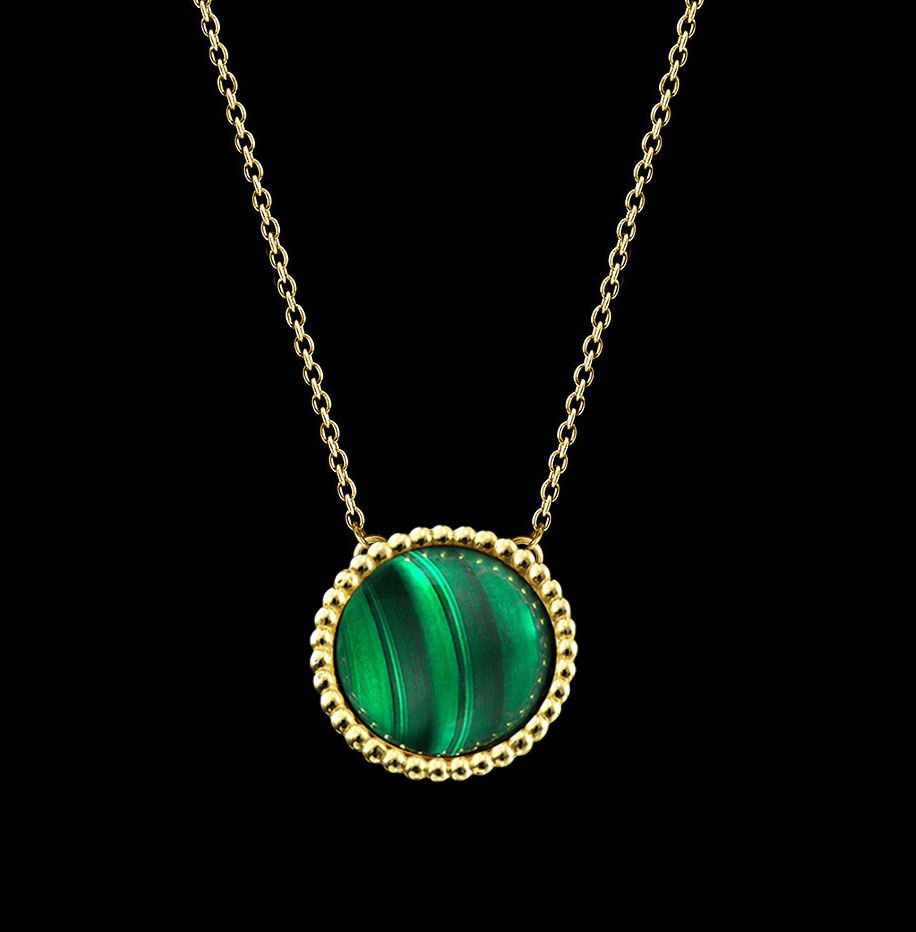 malachite little necklace