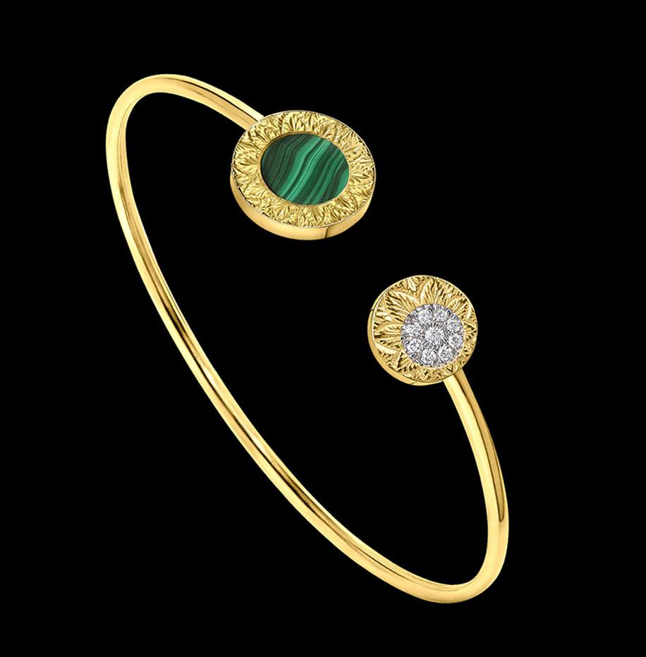 malachite engraved bracelet