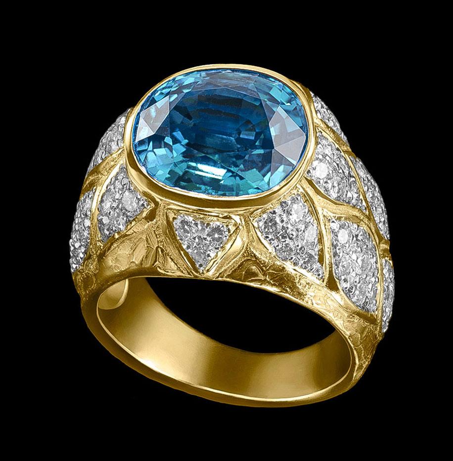 topaz diamonds ring