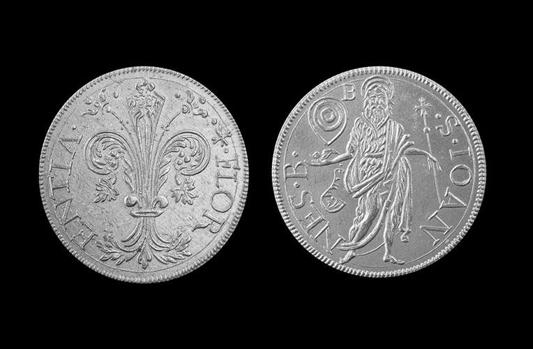 silver coin star florin florence torrini