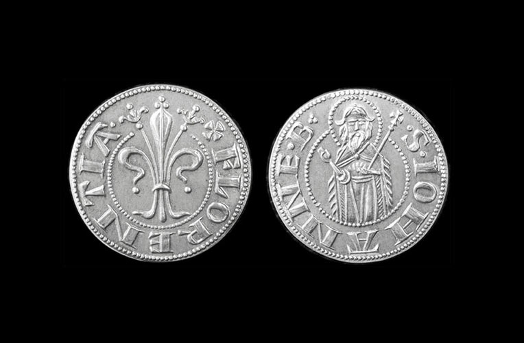 silver coin grosso due soldi florence torrini