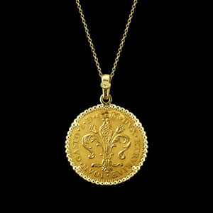 coin necklace pure gold Florence