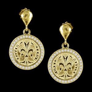 coin earrings diamond florence
