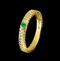 emerald thin ring