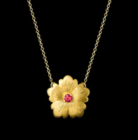 ruby necklace flower