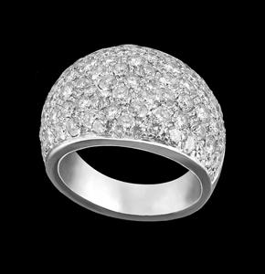 diamond pavè gold ring jewelry torrini florence 1369 italy