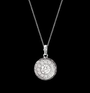 diamond pavè engraved pendant jewelry torrini florence 1369 made italy