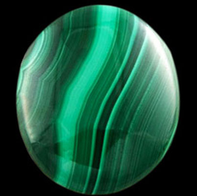 oval malachite gemstone