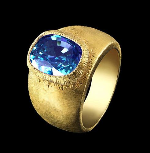 topaz bold ring