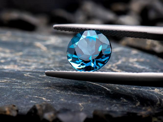 lodon topaz blue gemstone round cut