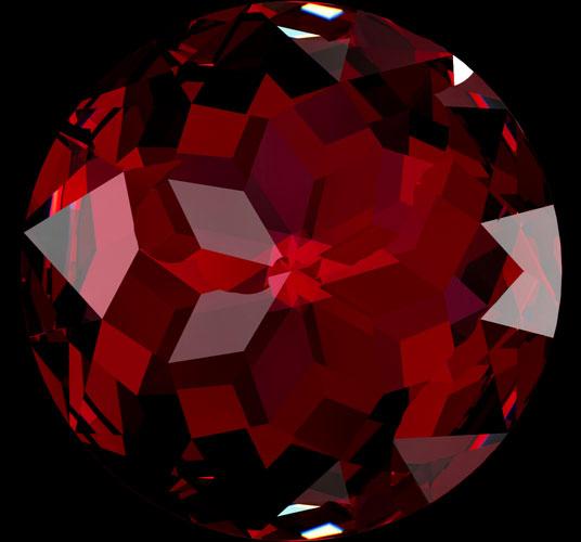 garnet red gemstone round cut