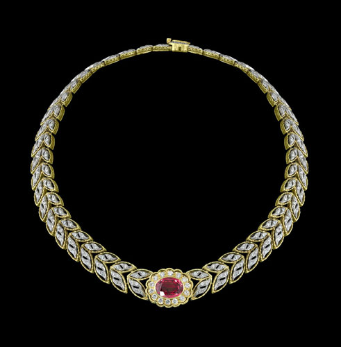 tourmaline diamond necklace jewel florence