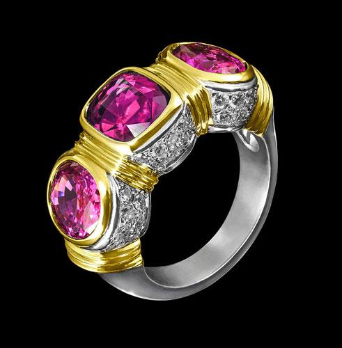 tourmalines diamond ring