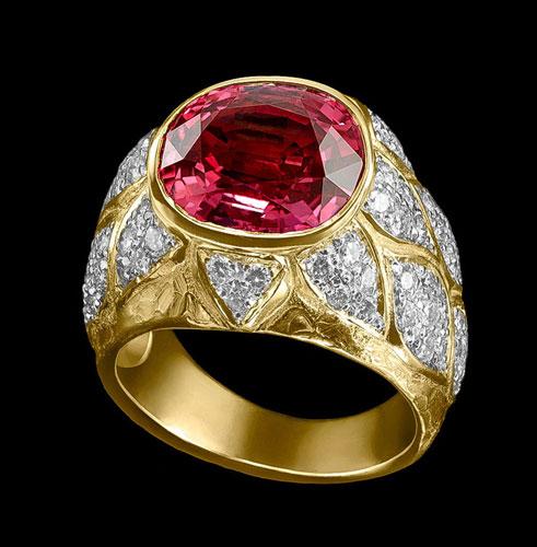 tourmaline diamond ring jewelry