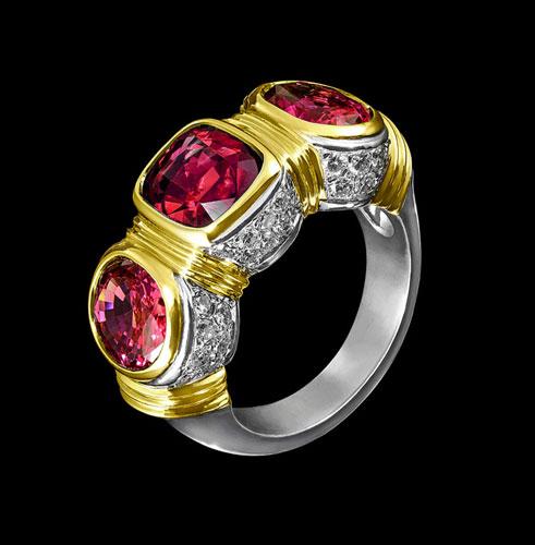 garnet diamonds rings