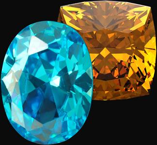 blue topaz and orange citrine gemstones birthstones