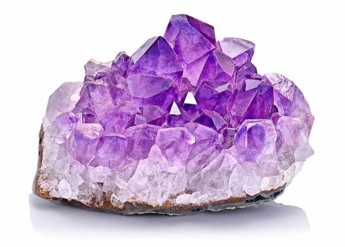 amethyst raw mineral