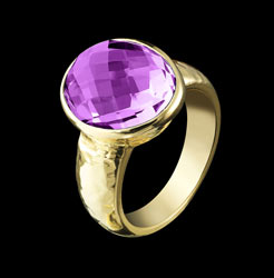 amethyst cabouchon ring