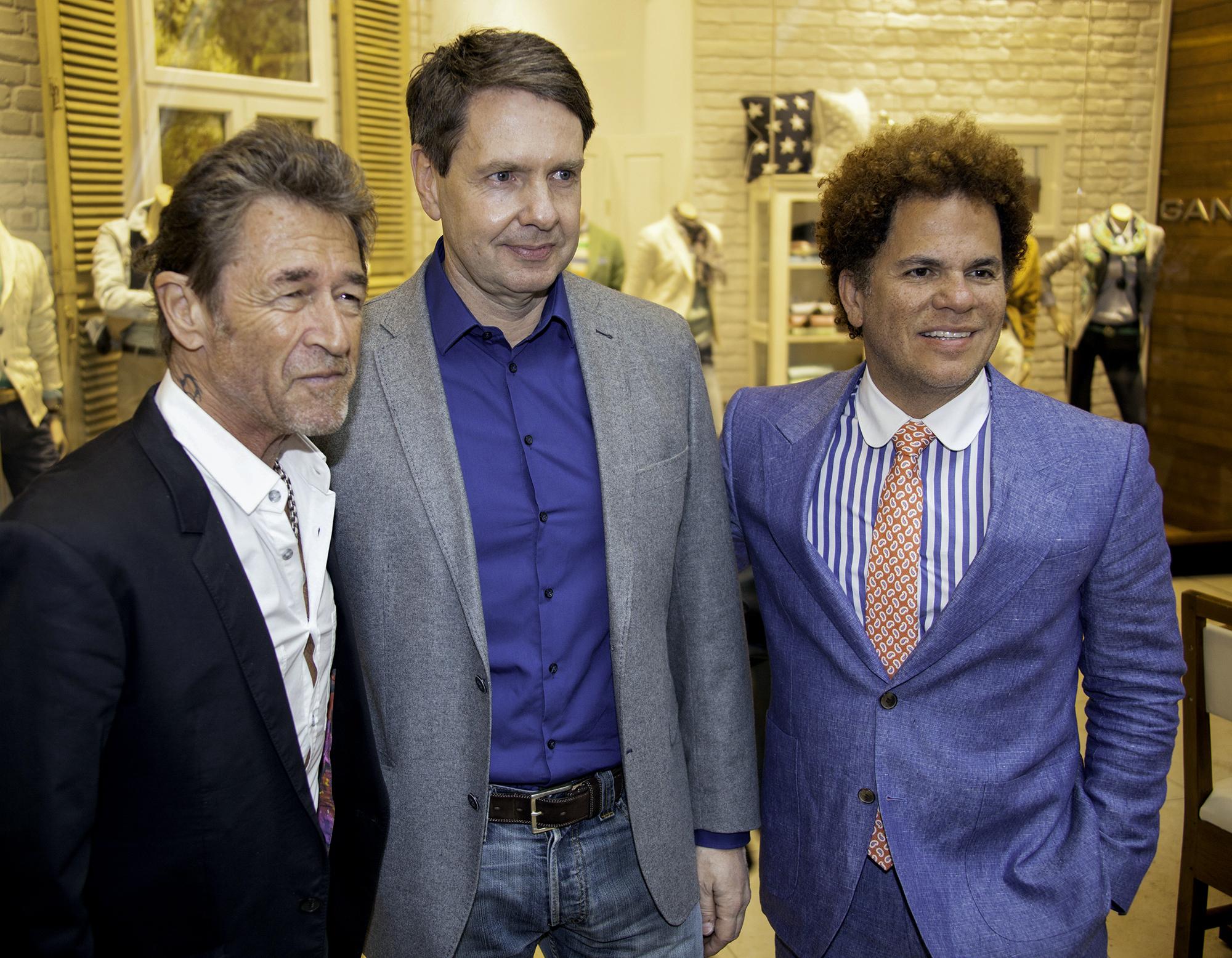Romero Britto mit Harry Mensing und Peter Maffay