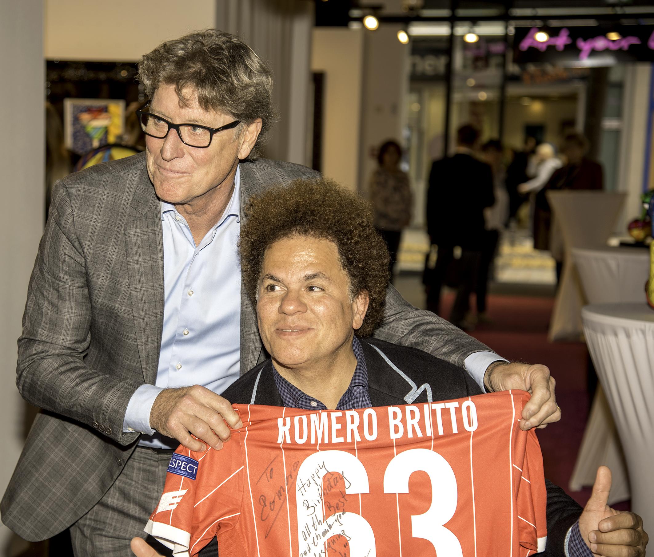 Romero Britto mit Toni Schumacher
