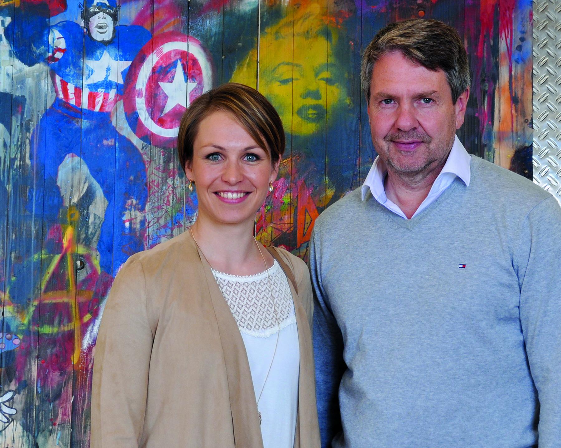 Harry Mensing mit Magdalena Neuner