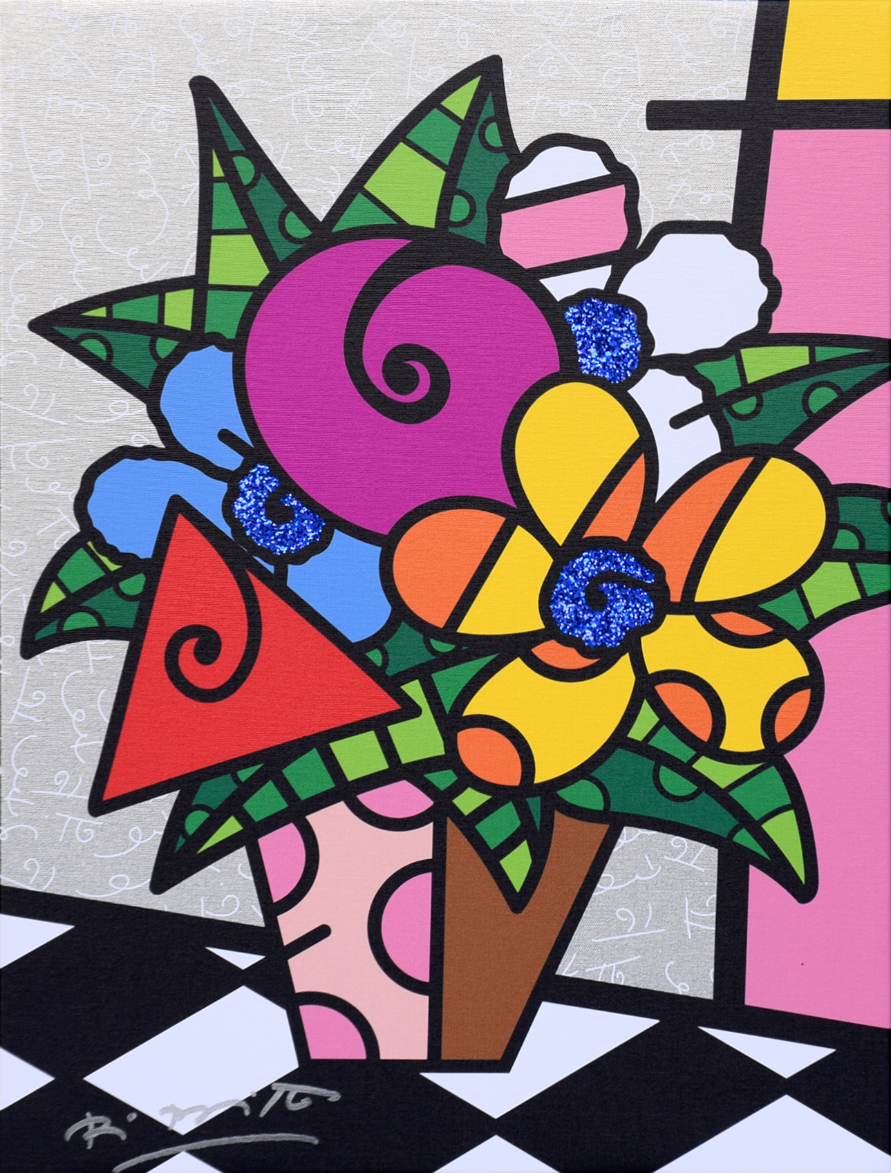 Romero Britto - Flowers for you , 5603-004-614