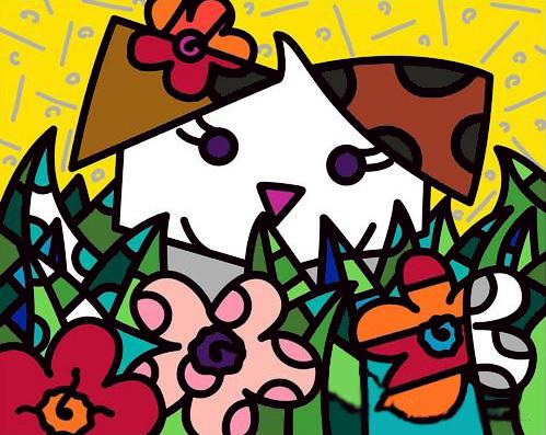 Romero Britto - Spring Puppy , 0603-012-092