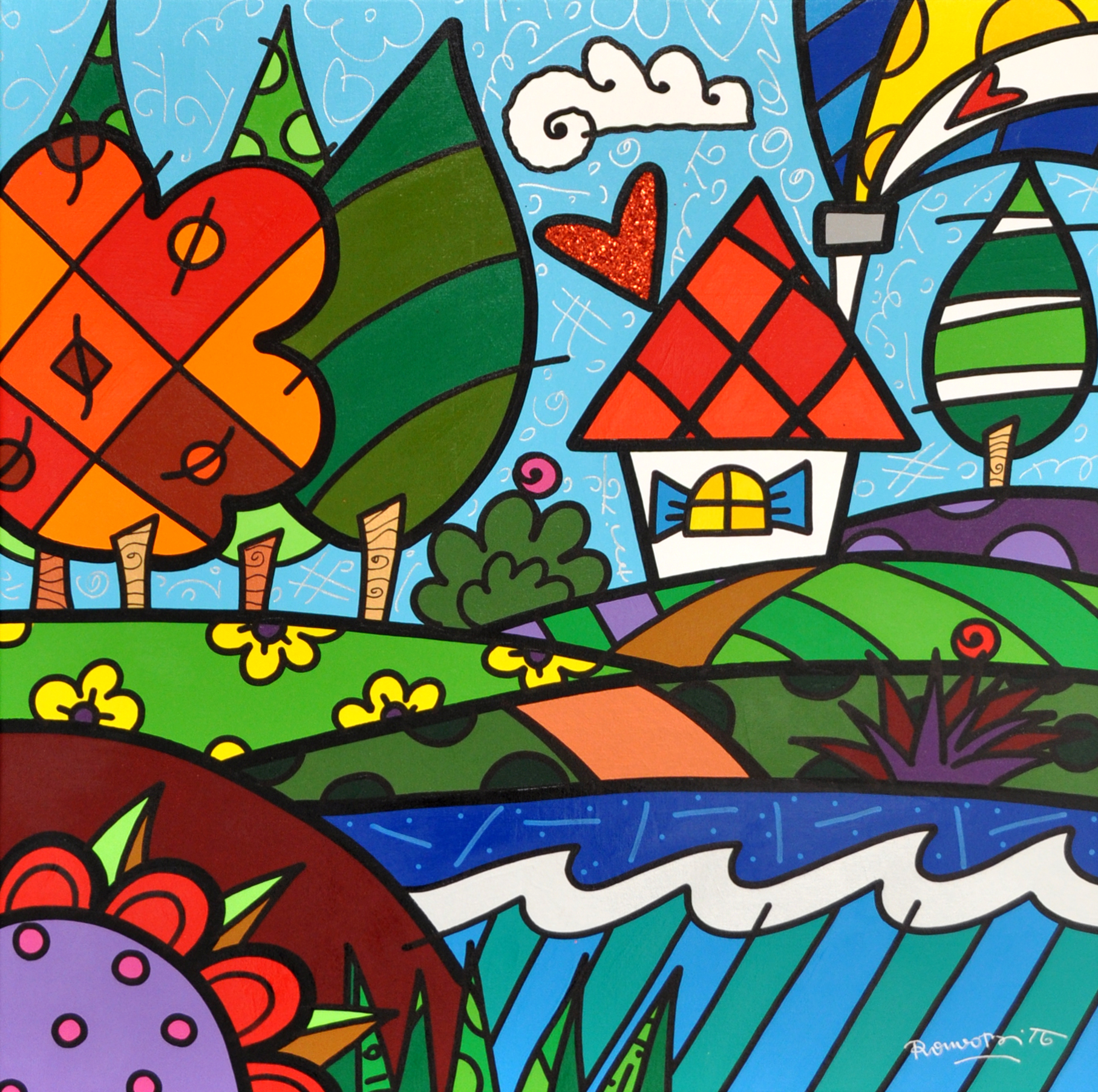 Romero Britto - Keuka Lake , 5603-012-452