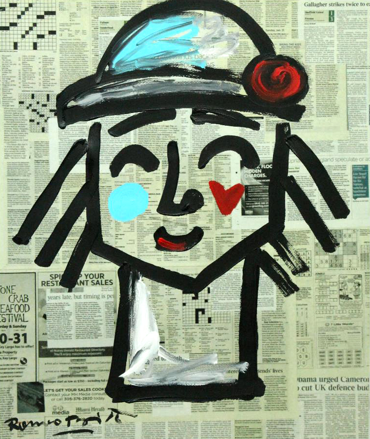 Romero Britto - Blue Hat , 5603-012-756