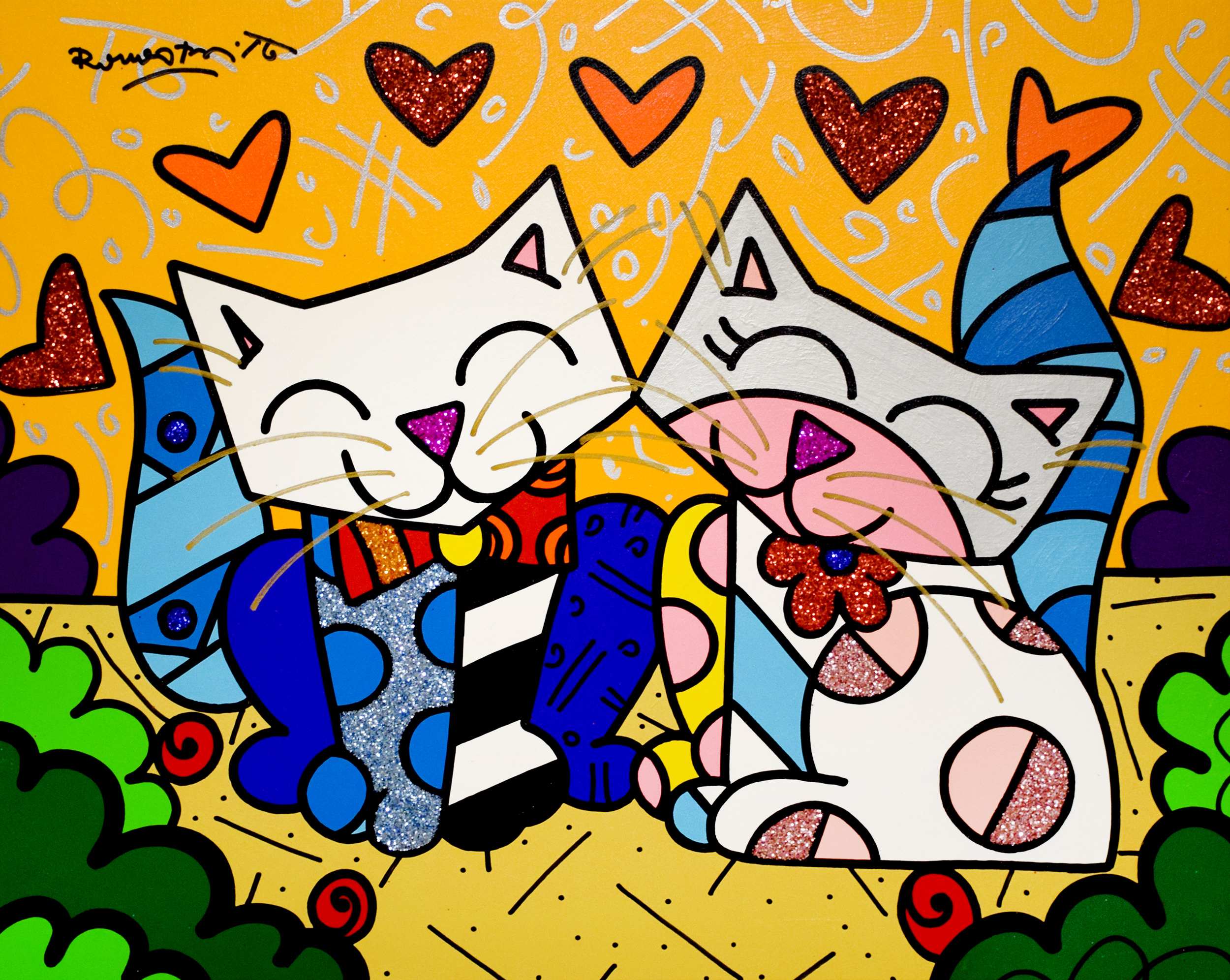 Romero Britto - Loving Cats , 5603-012-881