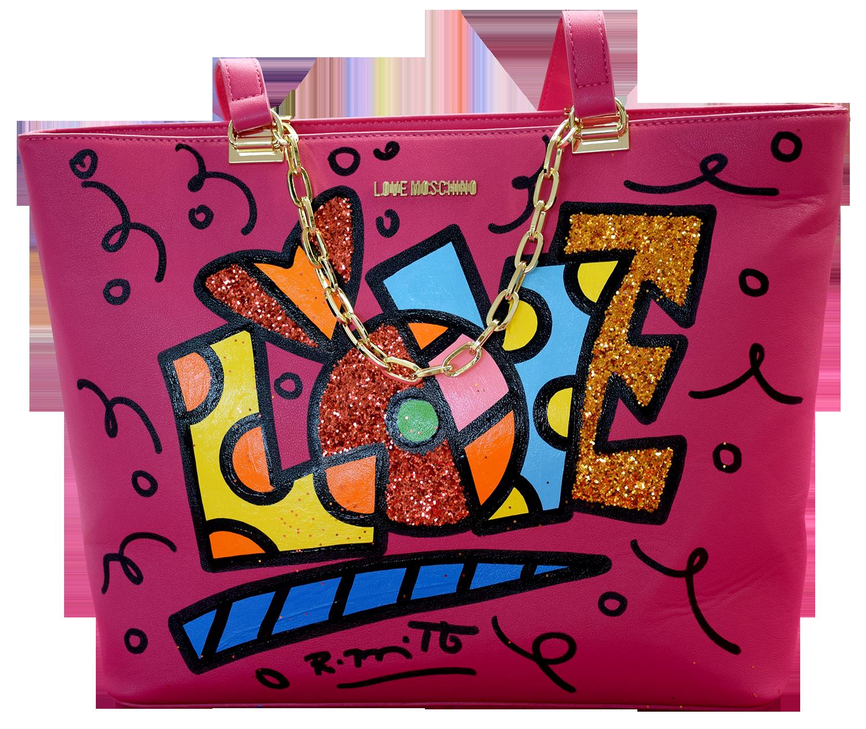 """Romero Britto - Handtasche Love Moschino """"Love Lettering"""" , 5603-011-001"""