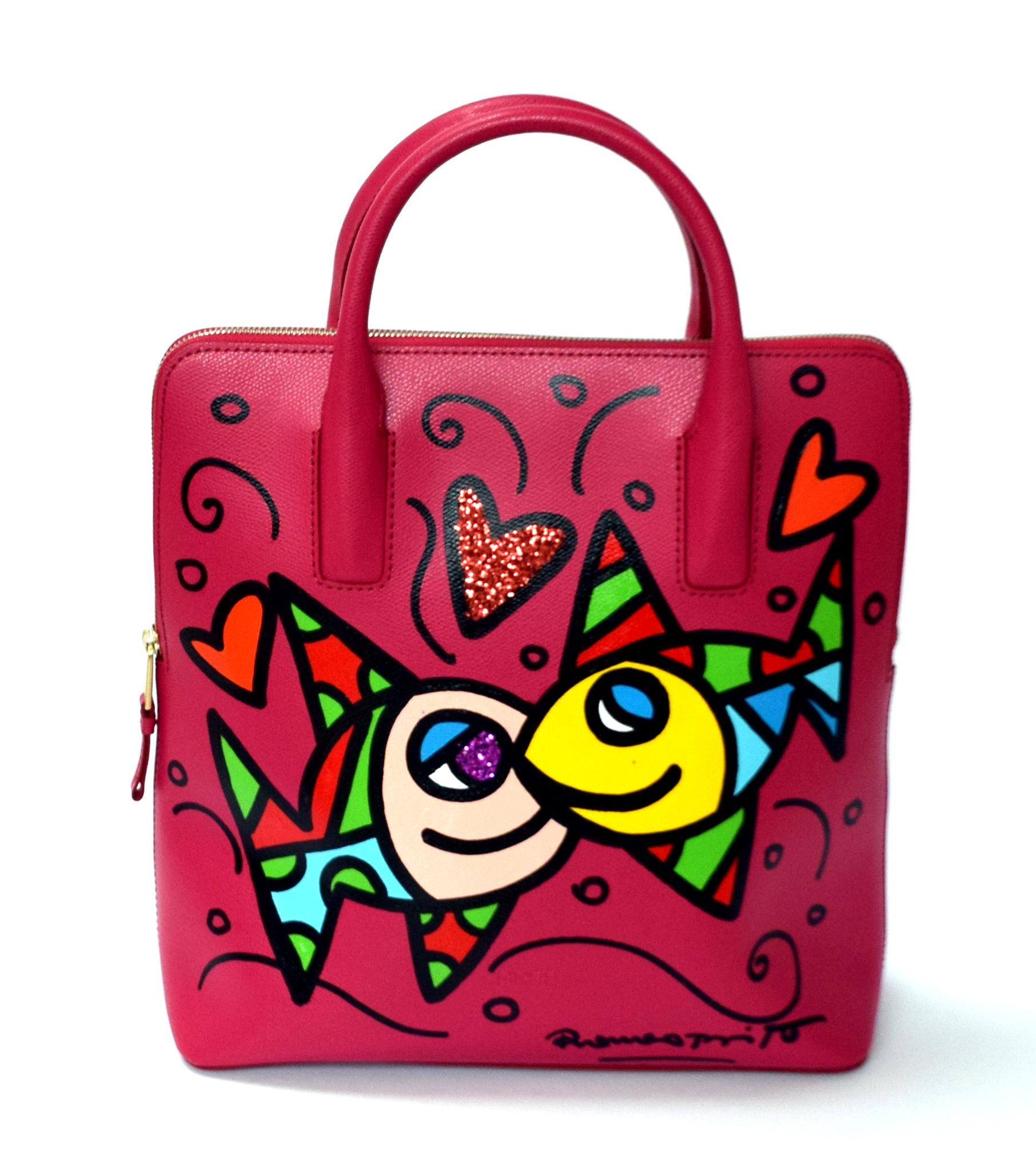 """Romero Britto - Handtasche / Rucksack Bree """"Fish"""" , 5603-011-002"""