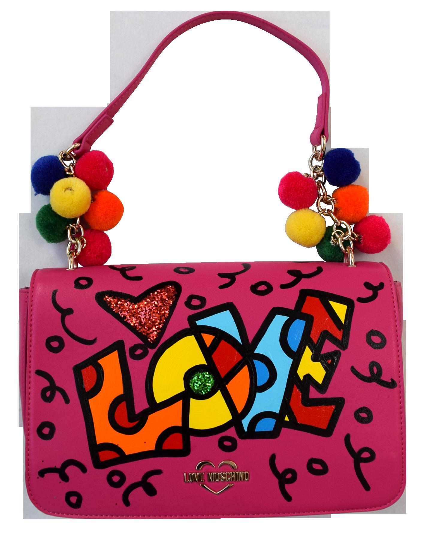 """Romero Britto - Handtasche Love Moschino """"Love Lettering"""" II , 5603-011-001"""