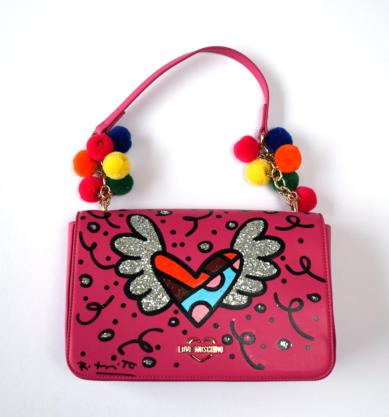 "Romero Britto - Handtasche Love Moschino ""Heart"" , 5603-011-003"