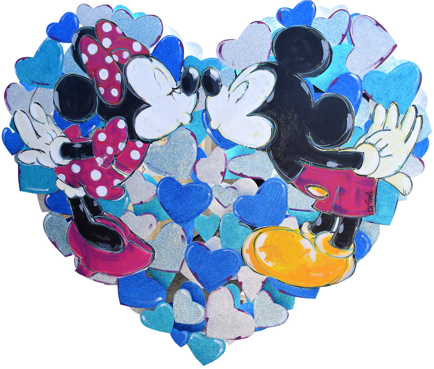 Tom Boston - Mickey und Minnie in Love (Blue-Silver) , 8017-006-715