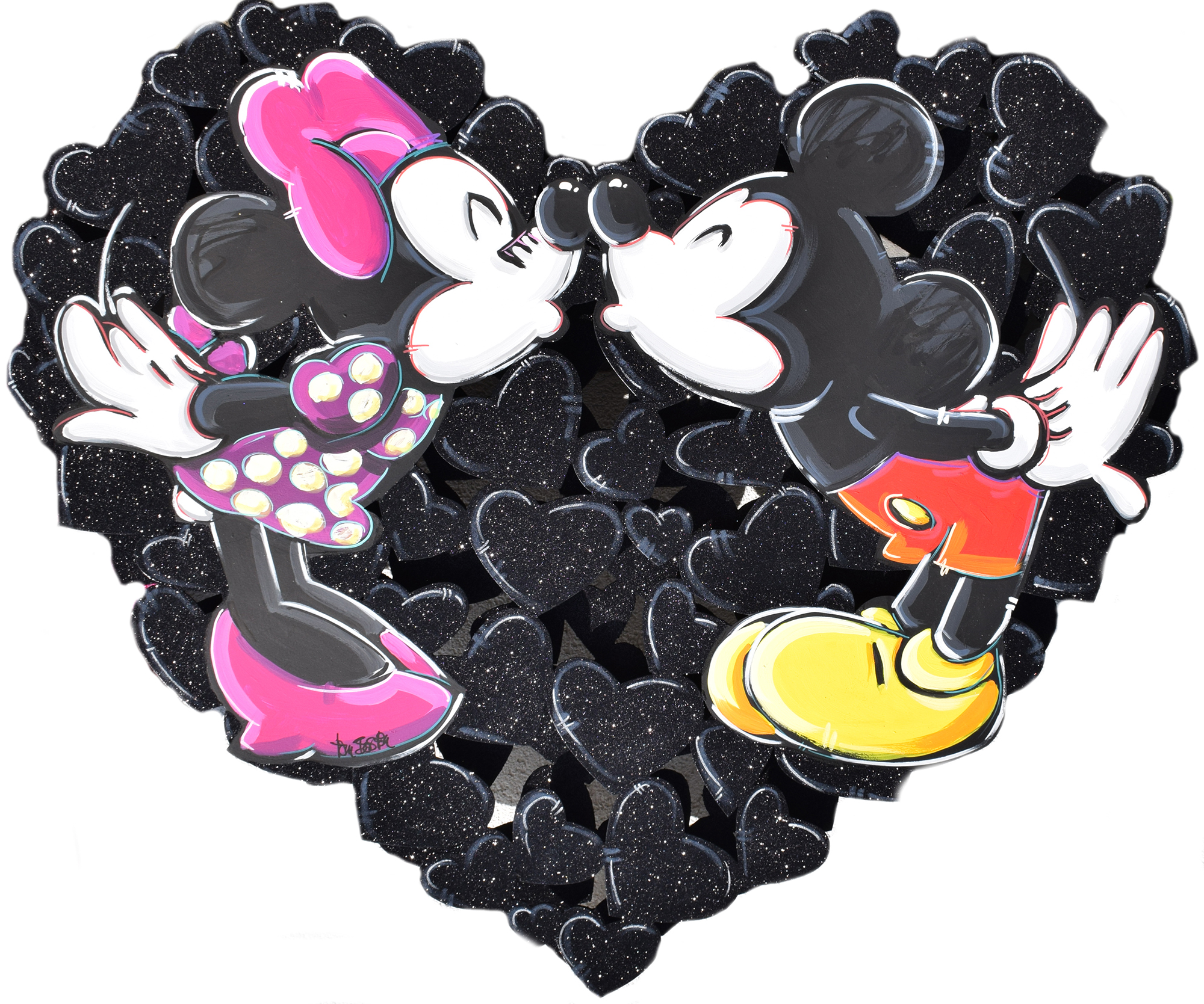 Tom Boston - Mickey & Minnie in Love (Black) , 8017-006-853