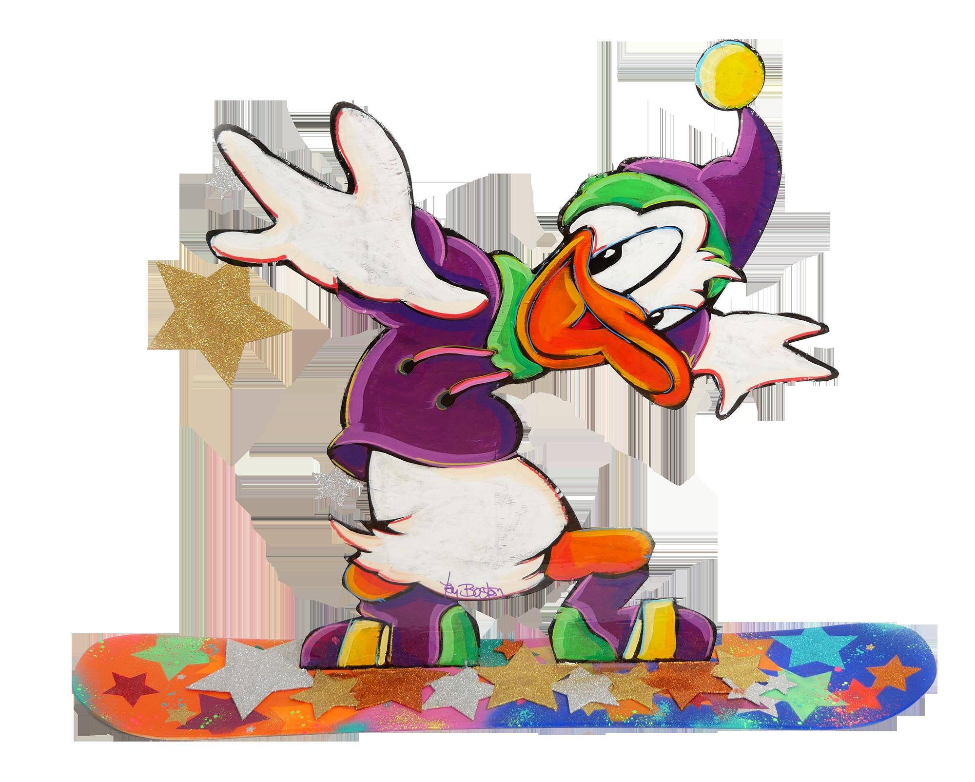 Tom Boston - Donald mit Snowboard , 8022-006-138