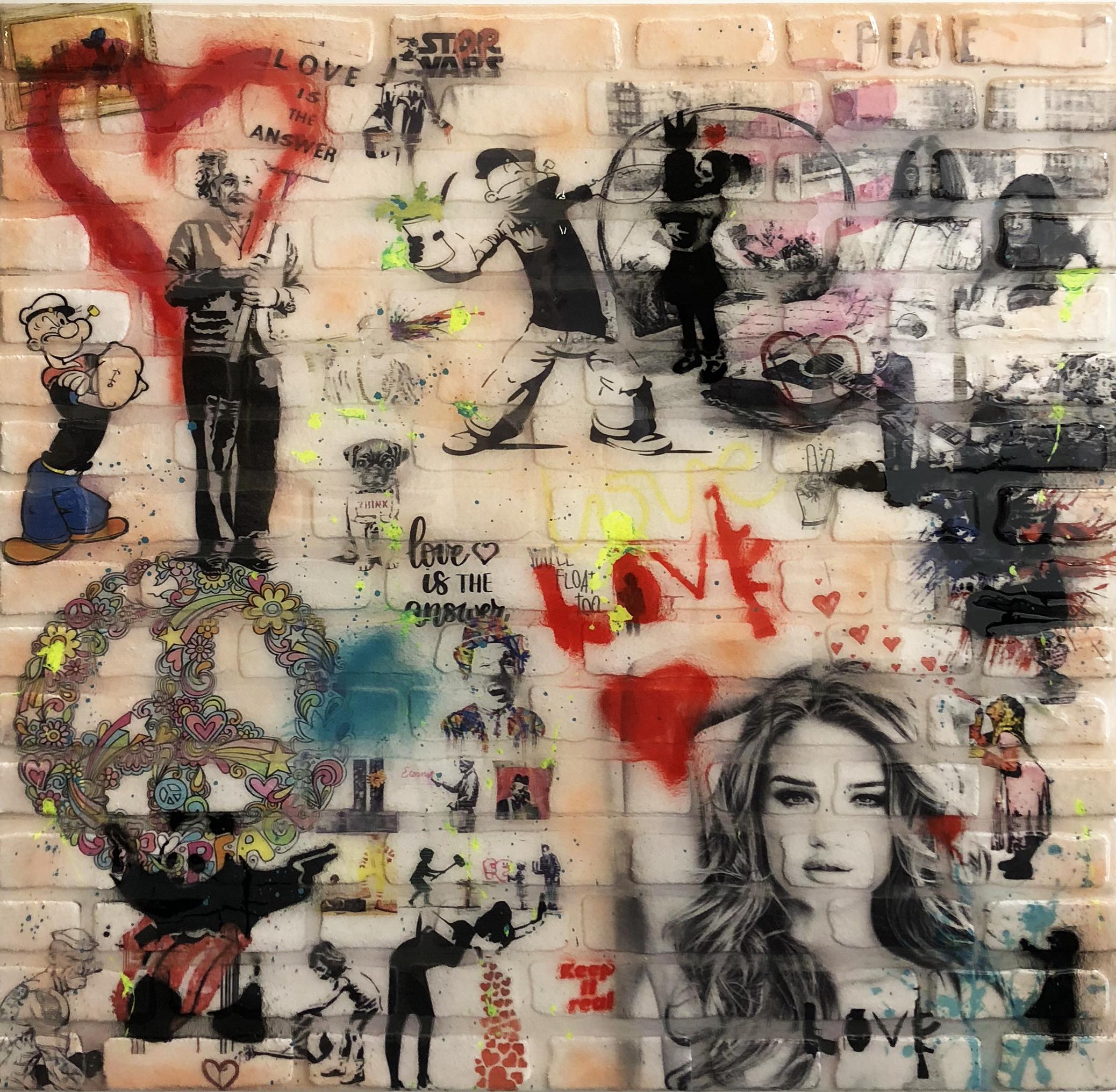 Diederik - Love & Peace Stone Wall , 4504-016-048