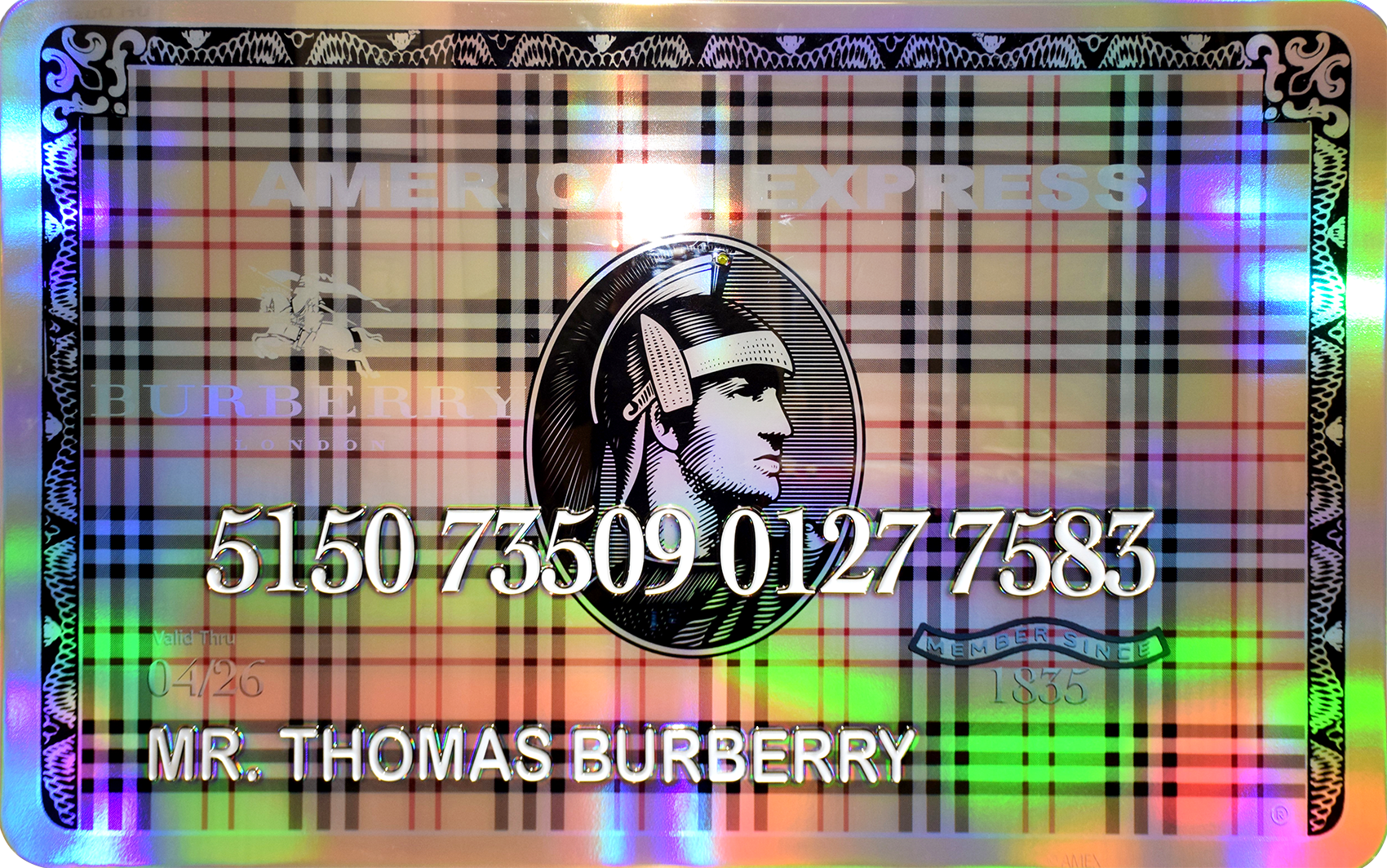 Diederik - AMEX (Mr. Thomas Burberry) , 4504-016-282