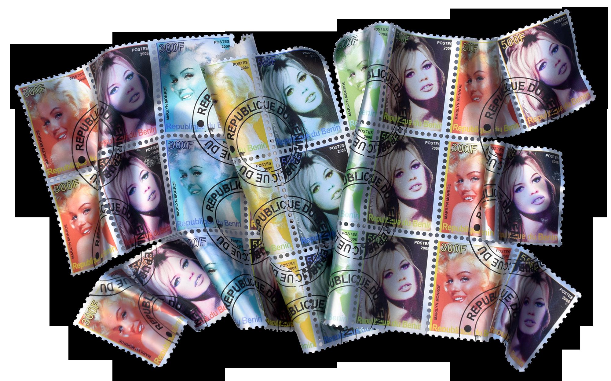 Floyd Douglas - Marilyn / Brigitte stamps , 0656-012-008