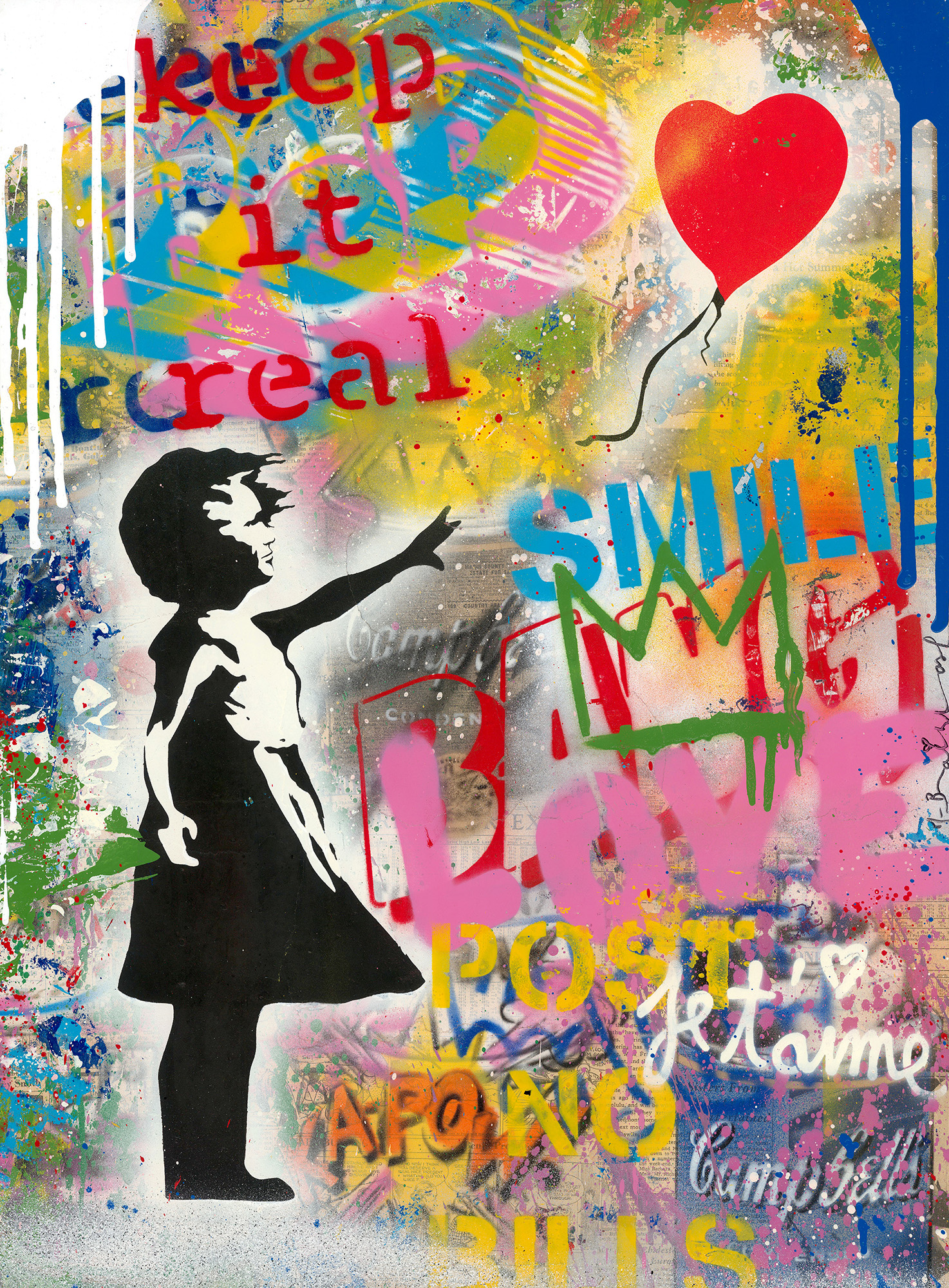 Mr. Brainwash - Balloon Girl , 9003-012-106