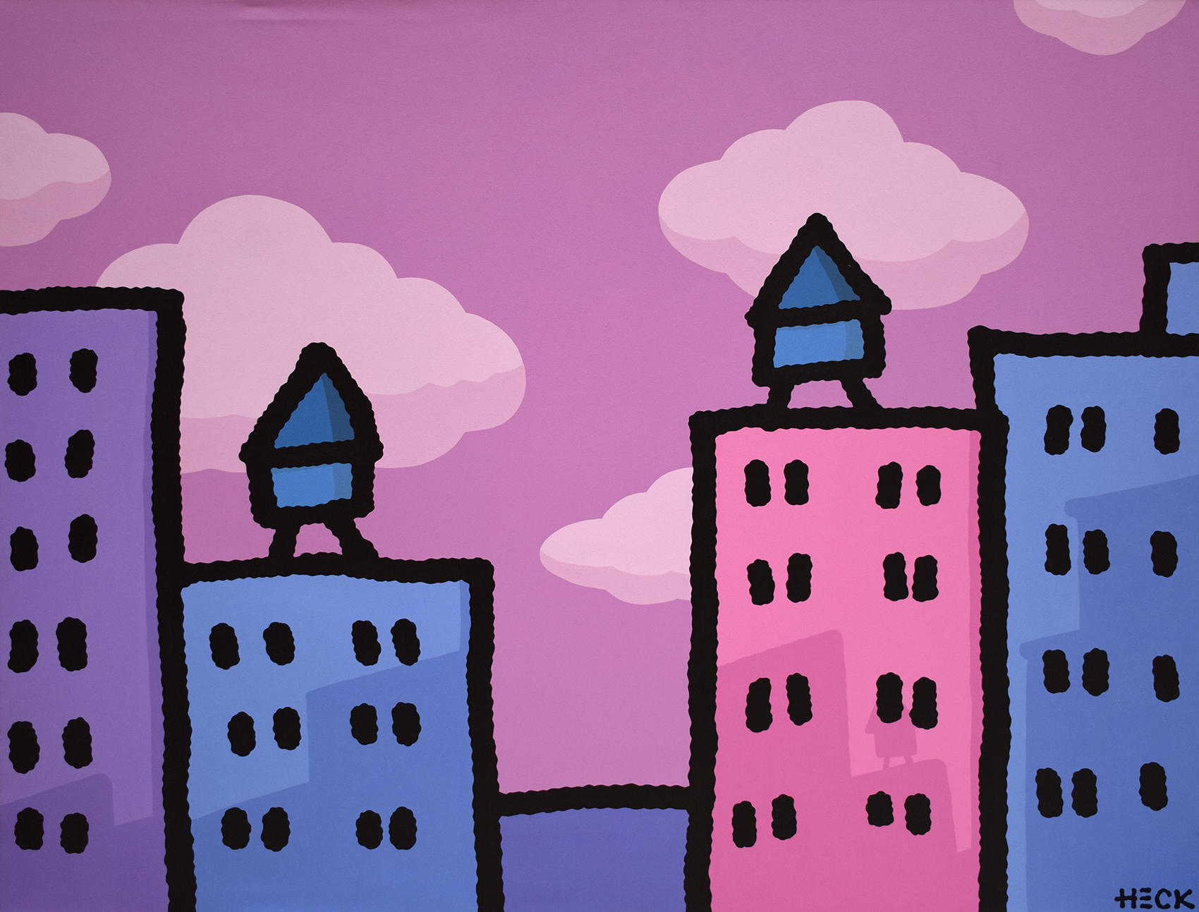Ed Heck - City in pink , 6575-006-191