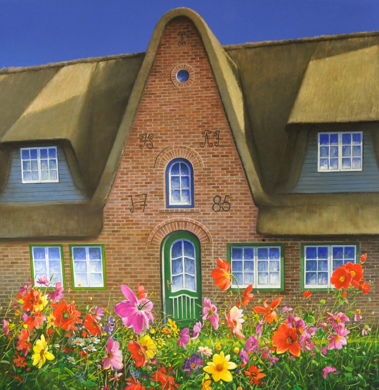 Detlef Rahn - Blumen vor dem Haus / Sylt , 7840-006-801