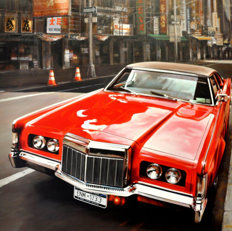 Luigi Rocca - 1733, parked red Cadillac , 0855-006-832