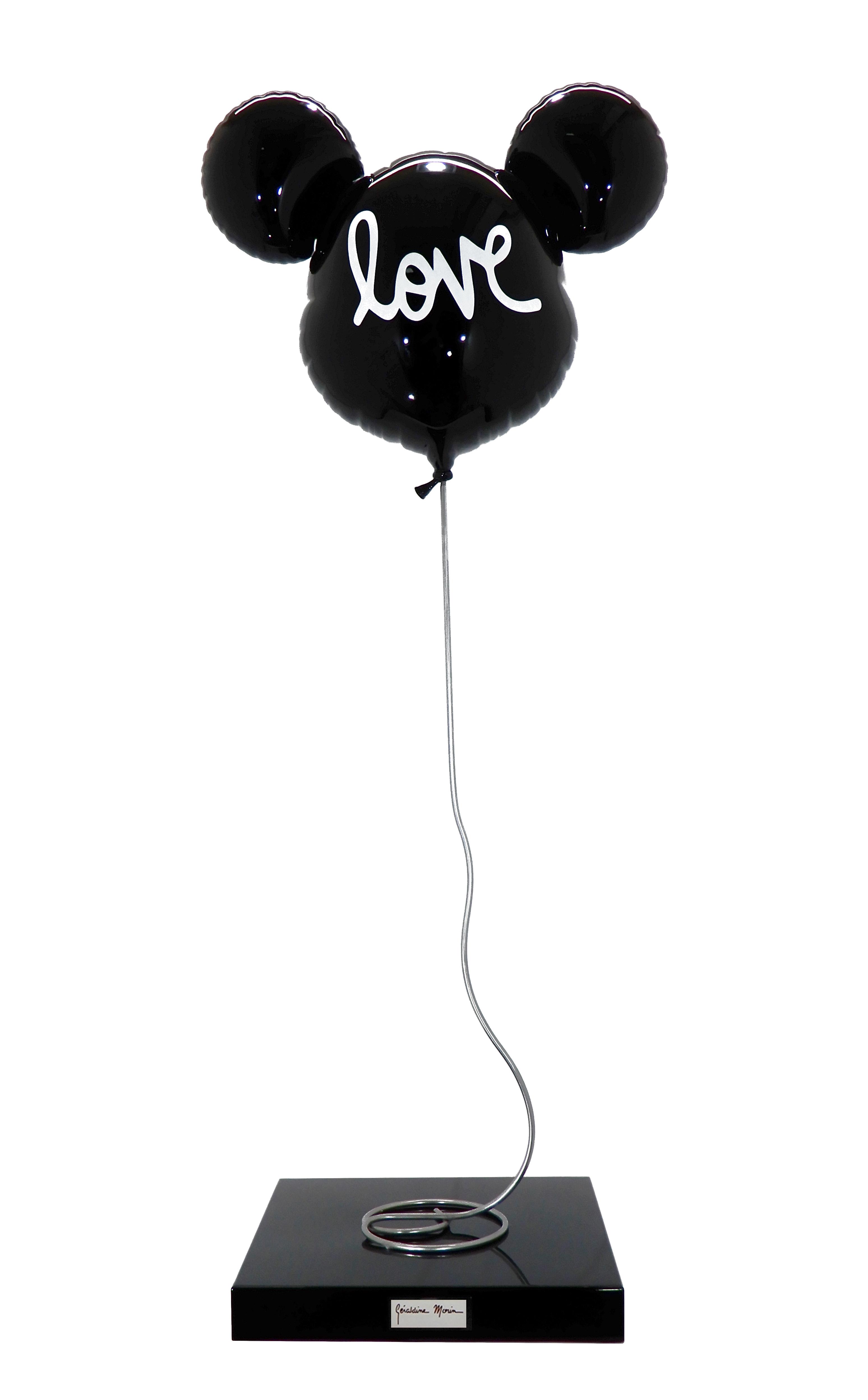 """Géraldine Morin - Ballon """"Mickey Love"""" noir , 8888-011-038"""