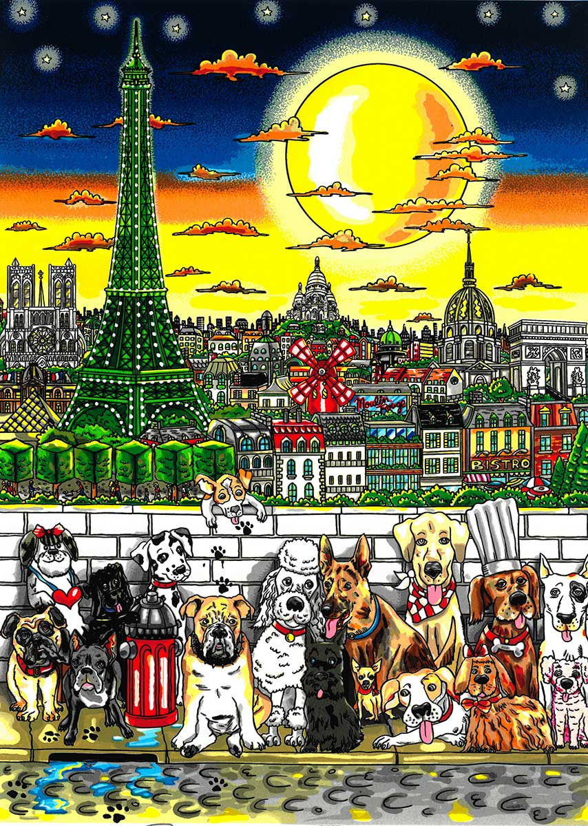 Charles Fazzino - Paws in Paris  , 5552-008-818