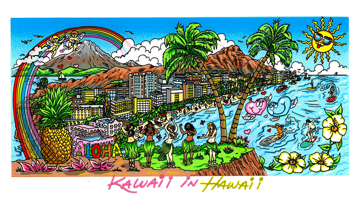 Charles Fazzino - Kawaii in Hawaii  , 5552-008-020