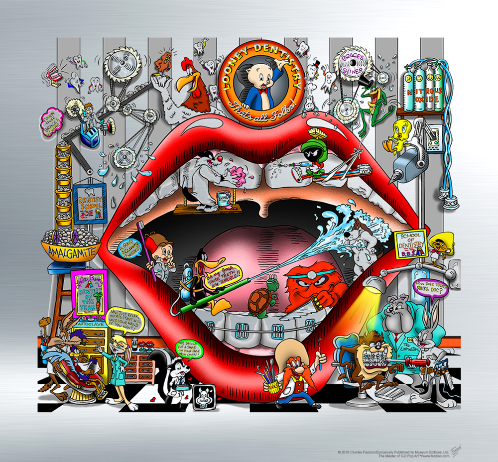 Charles Fazzino - Loony Dentistery  , 5553-008-049-308