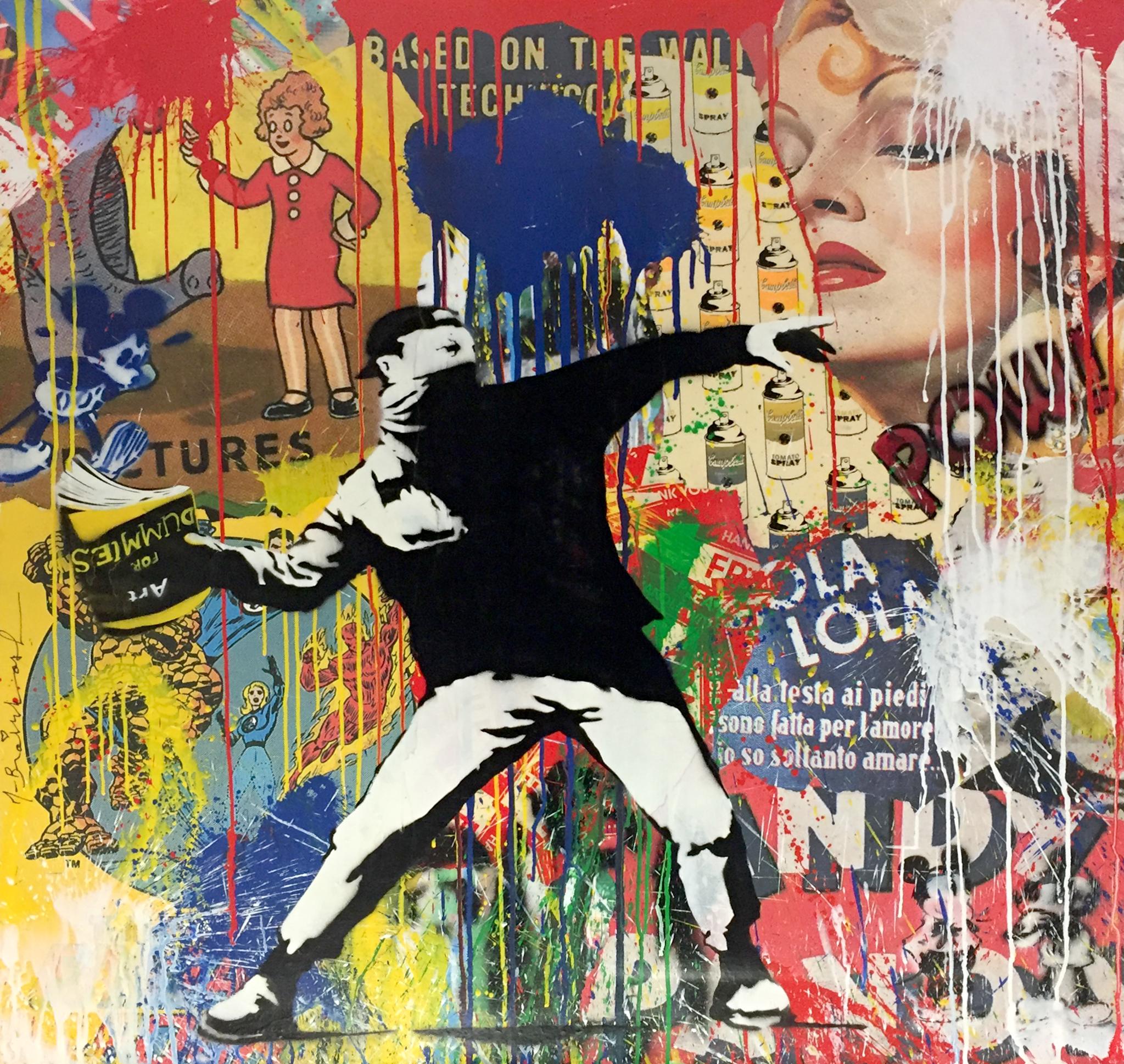 Mr. Brainwash - Banksy Thrower Lola , 9003-012-032