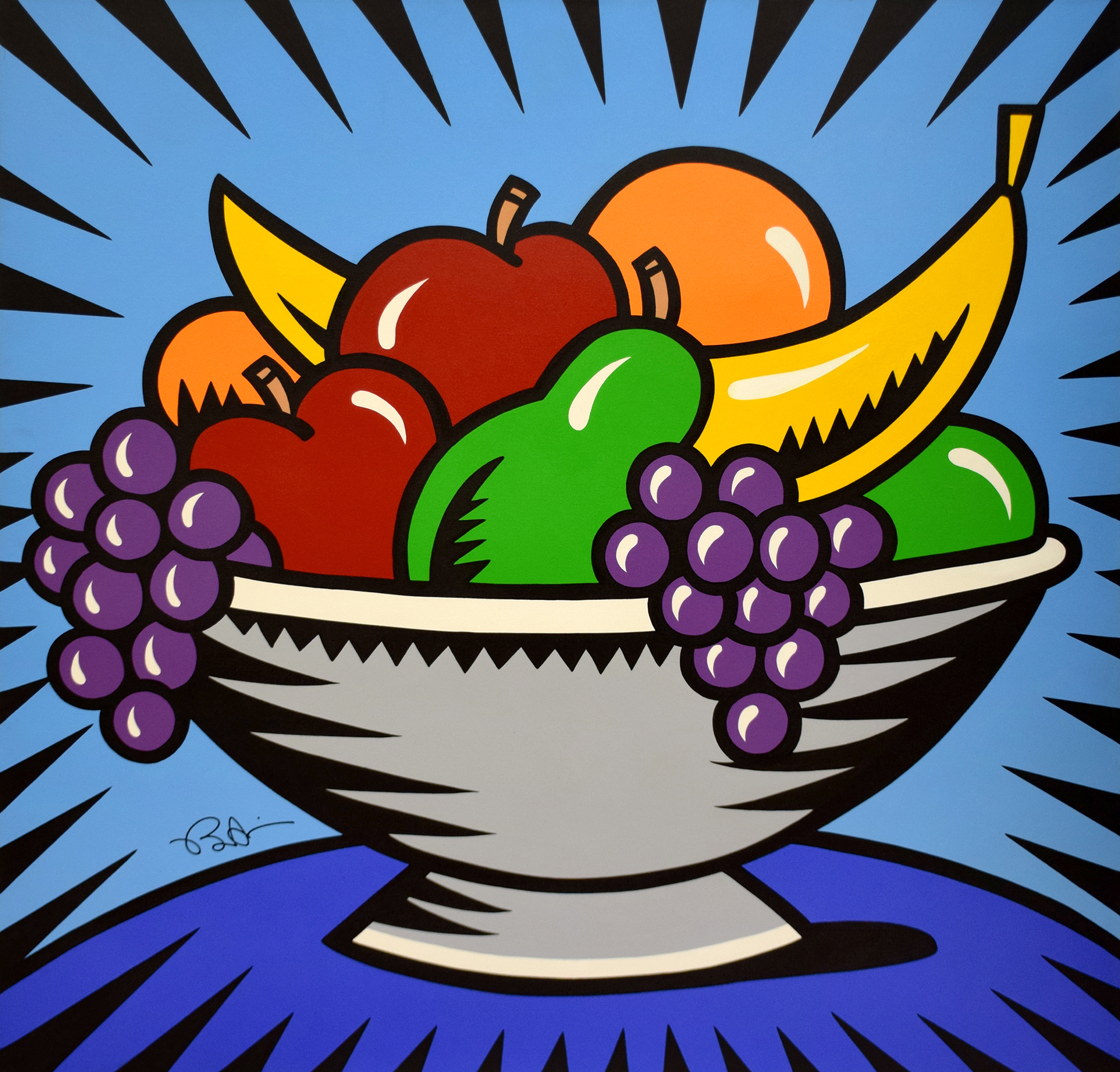 Burton Morris - Fruit Bowl Still Life , 6557-012-009